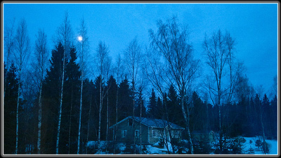 Finland Dusk, by natural light